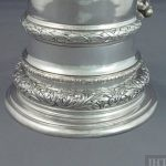 A large Swedish .830 silver flagon, hallmarked for 1900. In the late seventeenth century style, cylindrical body, domed lid
