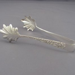 Kirk Repousse Sterling Silver Ice Tongs