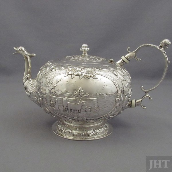 Dutch Repousse Silver Tea Set