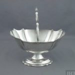 A Victorian sterling silver sugar basket by Joseph B Brown (possibly), hallmarked Sheffield 1883. Neoclassical style with