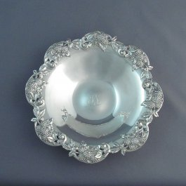 A Tiffany sterling silver bowl in Blackberry pattern (pattern 14088), made in New York c. 1902-7 (under the directorship